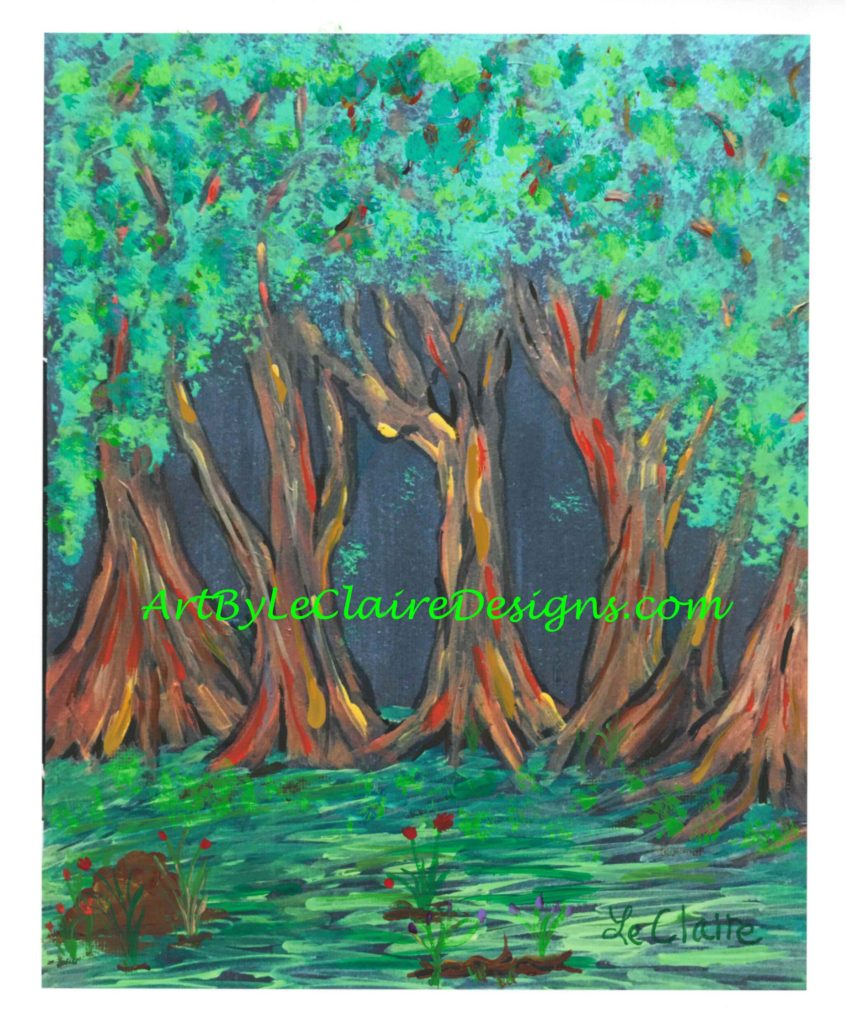 Neon Forest Embellished w 8x10