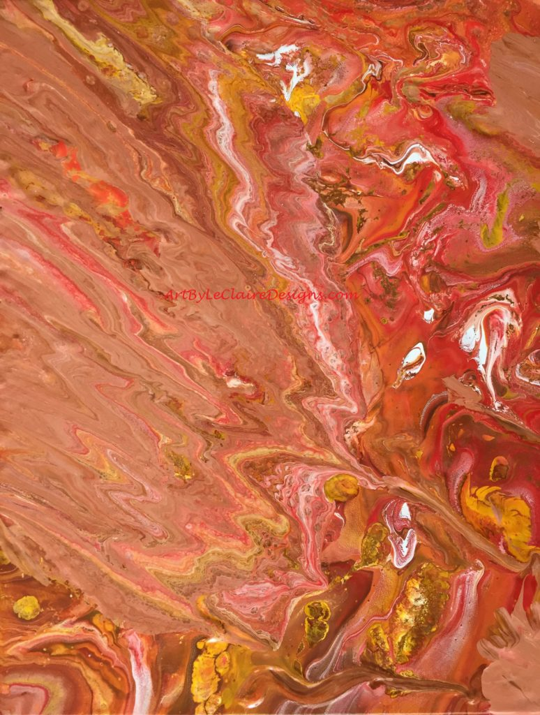 Red Orange Pour w
