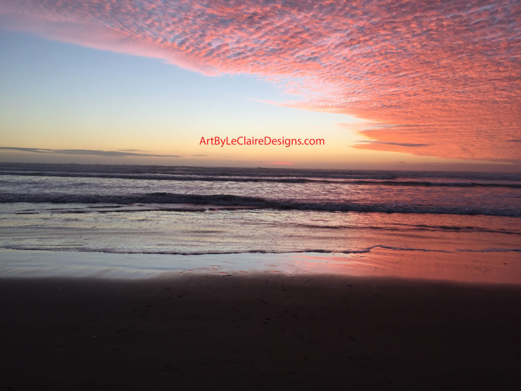 Red Sunset Pismo Beach 24x18 ppi