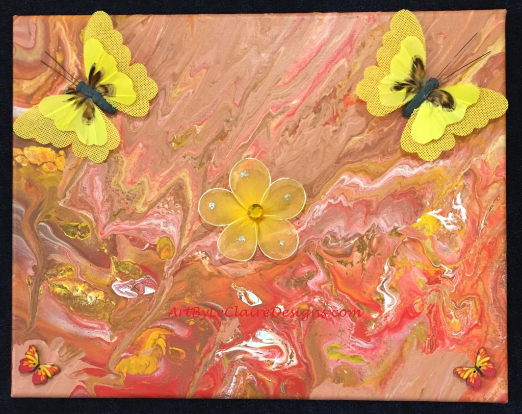 Yellow Butterfly Pour w